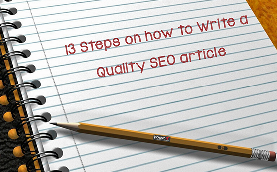 How to write a quality SEO article